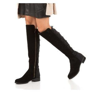 Michael Kors Skye Back Lace Up Over The Knee Boots